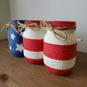Other - Rustic 4th of July Mason Jars